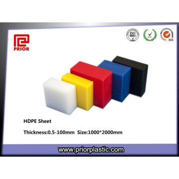 Feuilles de HDPE de couleur de polypropylène de plastique d'ingénierie