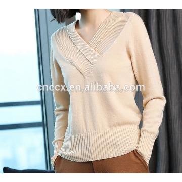P18B10TR женские 100% кашемир V-шея свитер