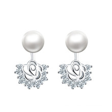 top 10 best selling new 8-9mm natural freshwater pearl earring design