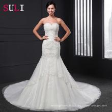М-013 Sexy милая спинки Русалка свадебное платье vestido де novia 2016