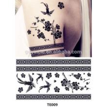 Tatuagens provisórias feitas sob encomenda decorativas de papel de transferência de China