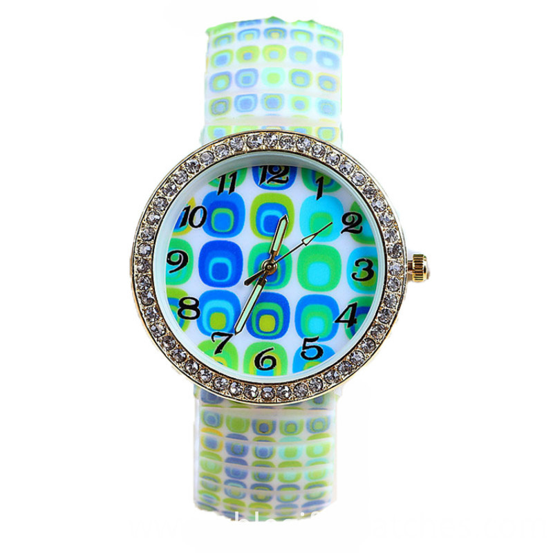diamond colorful watch