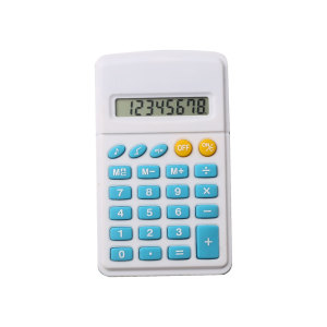 8 Digits Pocket Calculator with Button Battery Power