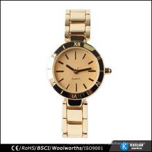 2015 últimas damas de oro de la elegancia pulsera reloj clásico