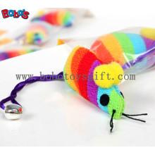 Juguete suave colorido del animal doméstico del ratón de la felpa con el Squeaker para el gato Bosw1081 / 12cm