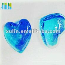 Große blaue Herzen Anhänger mit Kristall in Masse CP054