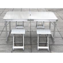 Kleine tragbare Klapptisch Klapplager Tisch im Freien Klapptisch-Set
