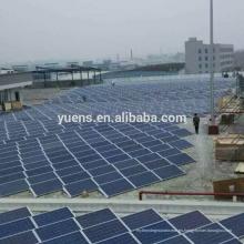Sistema de montaje fotovoltaico de la instalación de energía solar de estanterías solares de techo plano lastrado