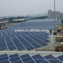 Structure de support photovoltaïque solaire de défilement ligne par ligne de toit plat ballasté PV usine
