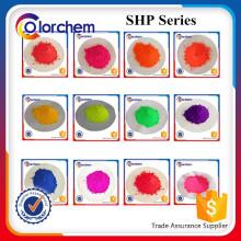 Pó de pigmento fluorescente para impressão têxtil Tinta e coloração de plástico Pigmento Fluorescente