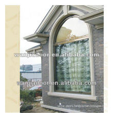 New style white color aluminum half moon windows