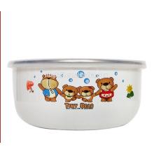 cute bear arbon steel of enamel coating ice bowl popular by child