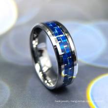 Stock 9#, 10#, 11# Tungsten Ring with Carbon Fiber