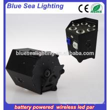 6pcs 18w rgbwa uv led par light battery / dj lighting
