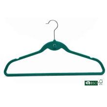Especial de moda verde flocado cerda de terciopelo