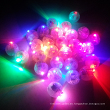 Decoración de fiesta redonda con globos led de luz.