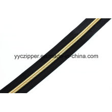 Nylon Long Chain Zipper with Gold Teeth for Garments
