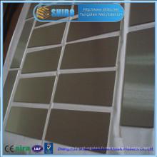 Plaque de molybdène 99.95% de haute pureté de vente directe d'usine avec de haute qualité