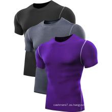 Camisetas de la aptitud de los hombres del OEM Camisetas del desgaste 2017 de la gimnasia