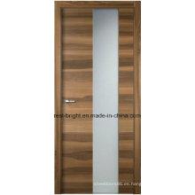 Puertas interiores modernas del dormitorio del vidrio esmerilado de madera