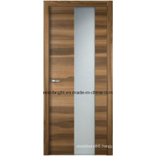 Modern Frosted Glass Wooden Interior Bedroom Doors