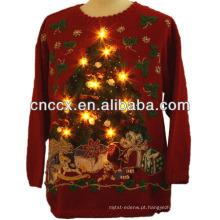 14STC9001 acender suéter de natal