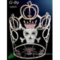 New rhinestone large 2015 latest pumpkin tiara halloween crowns