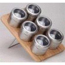 Porta-condimentos magnético aço inoxidável (CL1Z-J0604 - 6K)