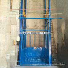 Cargo loading China guide rail hydraulic lift chain cargo lifts