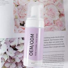 OEM/ODM Facial Rose Cleansing Mousse Foam Facial Cleanser Face Wash