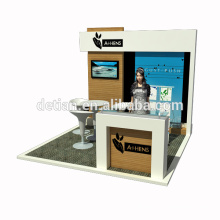 Detian Offer custom 10x10 booth space fair stand design trade show booth ideas