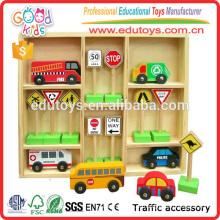 Kinder Holzfahrzeuge und Verkehrszeichen Traffic Education Spielzeug