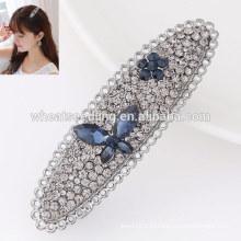 Топ продажи высокого качества элегантный оптовой кристалл свадебный волос контакты имена