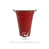 homeware spring garden red metal planter