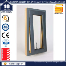 Swing Opening Aluminum Casement Windows with Tempered Glass