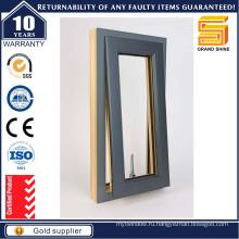 Алюминиевый / Алюминиевый наклон и поворотное окно со встроенными ставнями