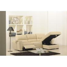 Sofá de sala de estar de couro genuino (875)