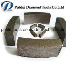 Segment sec de peu de foret de noyau de granit fritté pour des pièces d'outil de puissance
