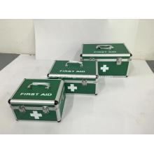 Caixa de primeiros socorros de liga de alumínio com fechaduras e alça