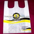 Großhandel HDPE Kunststoff T-Shirt Tasche / Lebensmittel Tasche / Öko-Tasche