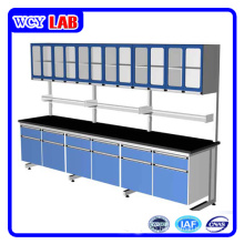 Lab Equipment Wall Work Bench and Cabinet