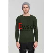 Suéter de cachemira pura con ajuste de cuello redondo Ewsca