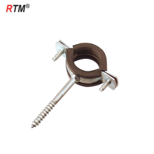 Metric steel single pipe clamps