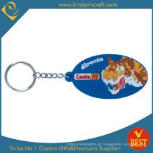 Alta qualidade personalizado Tiger Logo 2D Soft PVC chaveiro para publicidade no preço de fábrica
