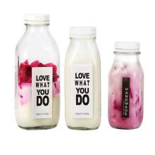 300ml 500ml 1000ml empty square glass bottles for milk juices beverage