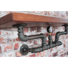"3/4 ""Malleable Iron DIY PIPE SHELF"