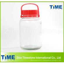 Pot en verre transparent de grande capacité