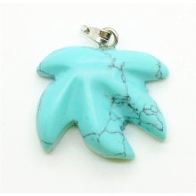 Maple Leaf Shape Turquoise pendant