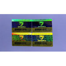Bottle Packing security holographic label custom barcode 3D hologram stickers
