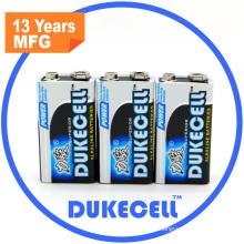 Bateria alcalina de 550mAh 6lr61 9V mais